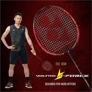 Lin Dan with Voltric Racquet